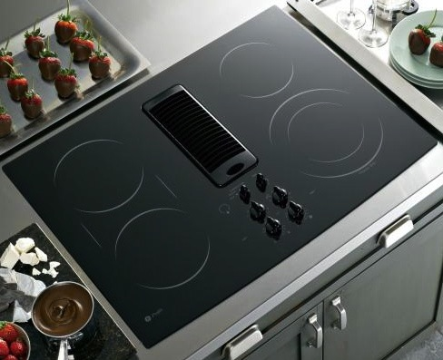 Options for kitchen ventilation friedman 39 s ideas and for Kitchen range with downdraft ventilation