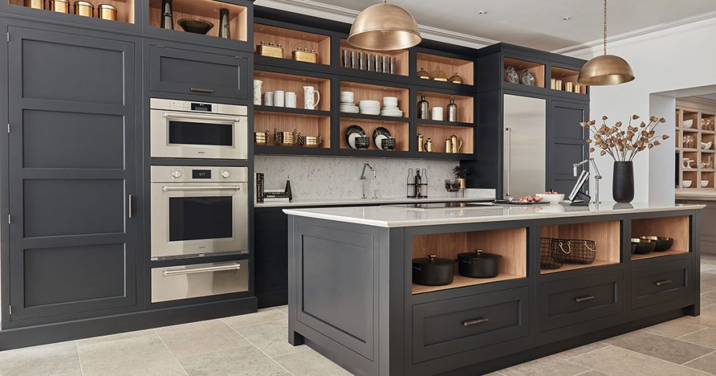 Wolf kitchen with convection steam oven