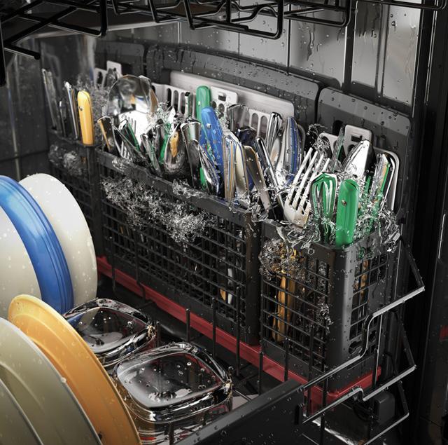 New Dishwasher Jets Add Power to GE Dishwashers