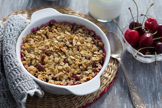 Cherry & Almond Baked Oatmeal