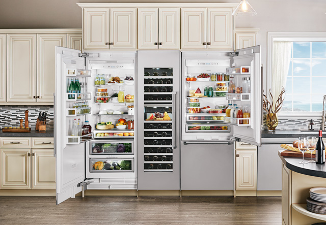 Thermador Open Refrigerator