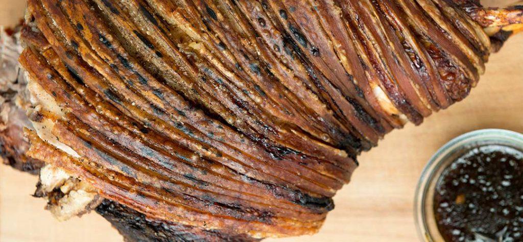 Ham with Warm Maple Vinaigrette