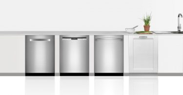 Row of four Bosch dishwashers