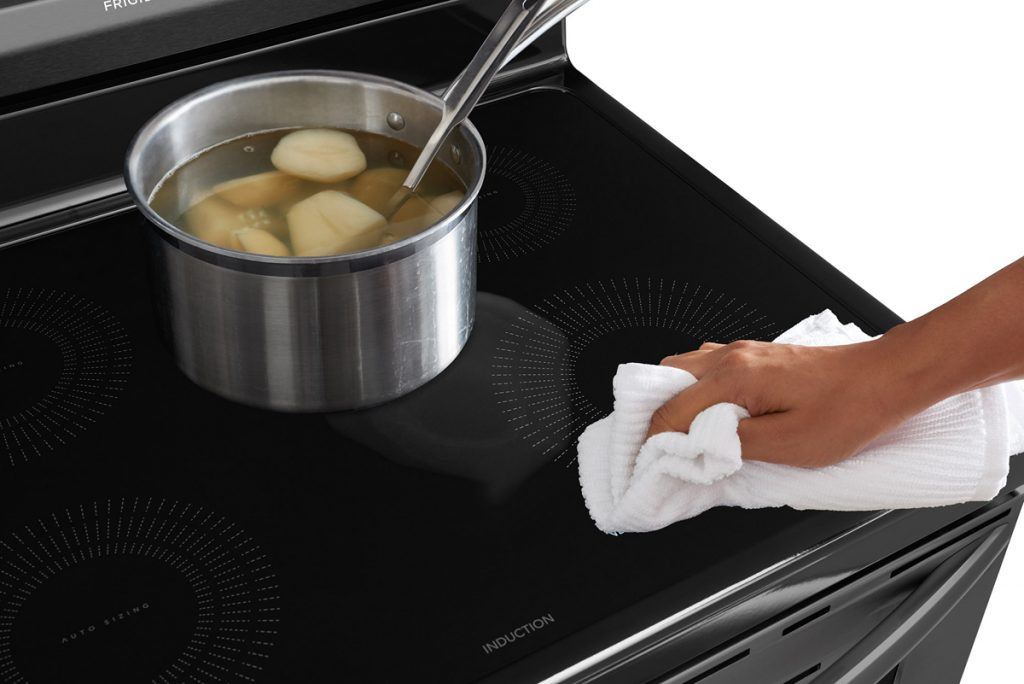 Cleaning Frigidaire range cooktop