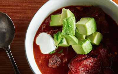 Smoky Short Rib Chili with Chipotle and Cocoa