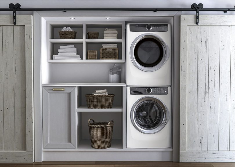 Electrolux stacked front load laundry pair