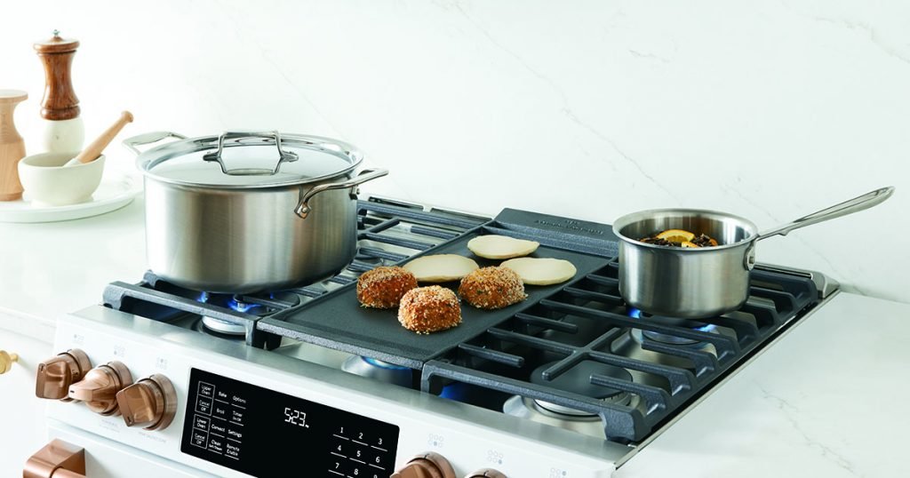 Cafe Appliances 6 burner range with Griddle