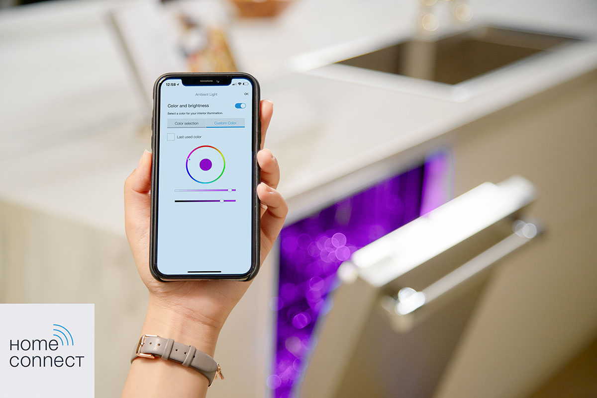 Thermador Star Sapphire dishwasher with Home Connect