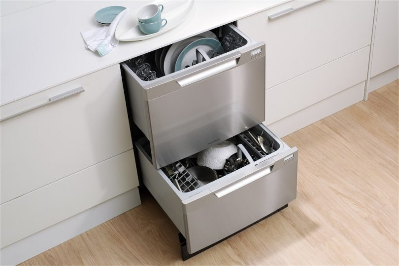 Fisher Paykel dish drawer with open drawers