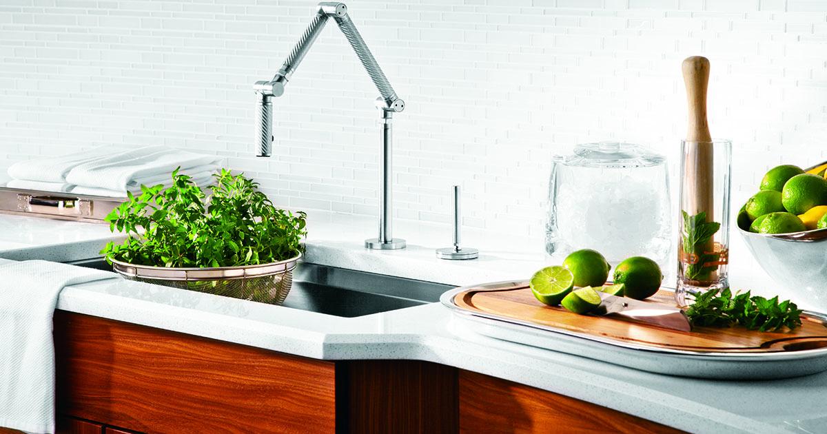 Kitchen Sink with Herbs