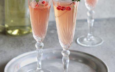 Festive Pomegranate Champagne Cocktail