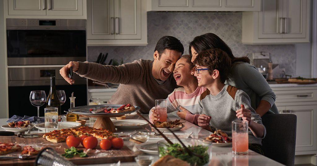 Family time in Sub-Zero Wolf kitchen