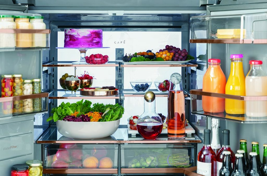 Cafe Quad-Door Refrigerator Interior