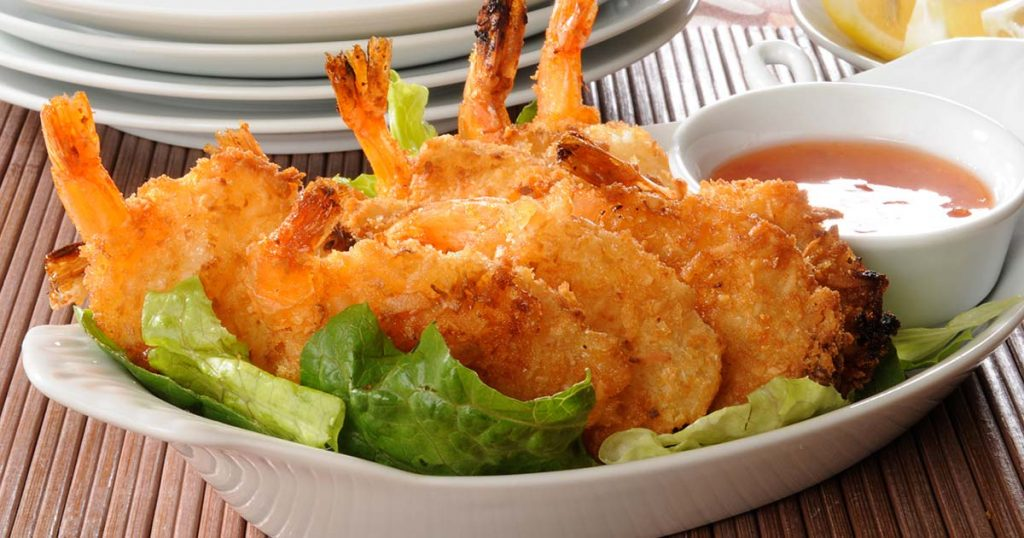 coconut shrimp with sweet sauce