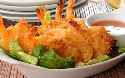 Baked Coconut Shrimp with Orange Chili Dipping Sauce