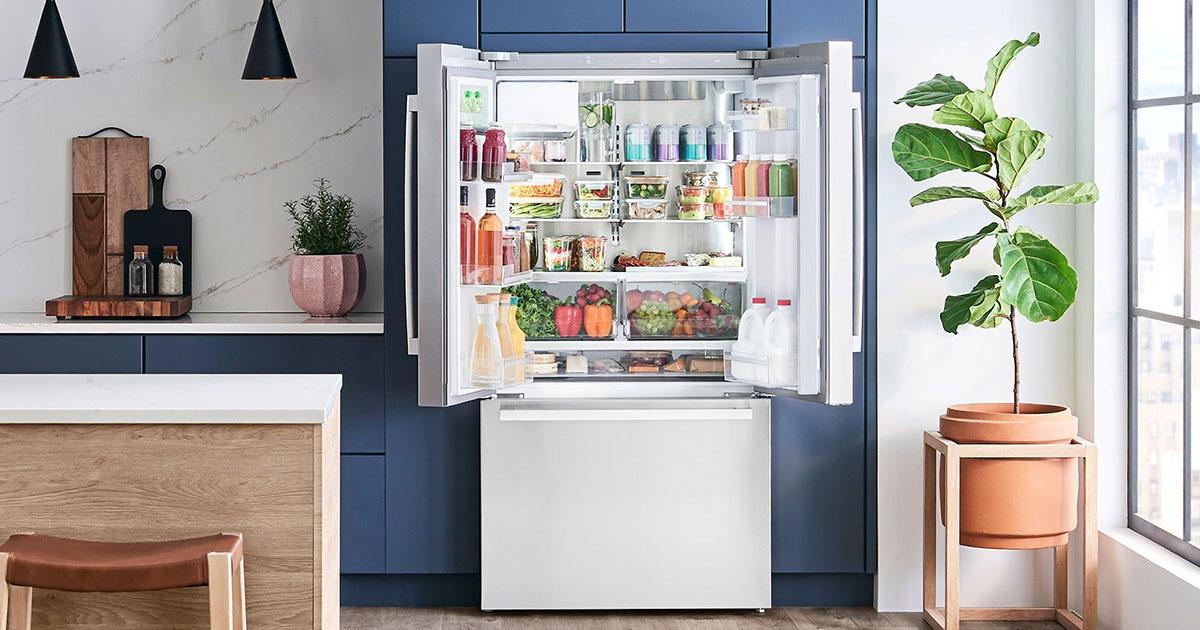 Bosch open refrigerator