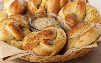 Homemade Soft Pretzels with Whole Grain Horseradish Mustard