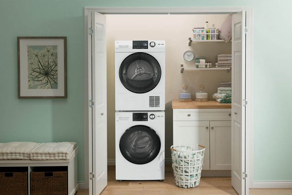 GE stacked laundry